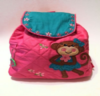 Monkey Quilted Backpack